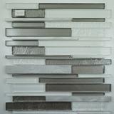 "Glass & Stone Transcendent Multi Width Glass Series Mosaic 12"" x 12"""