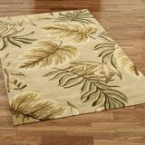 """Enchanted Leaves Rectangle Rug Taupe, 2'6"""" x 4'2"""", Taupe"""