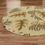 """Enchanted Leaves Round Rug Taupe 7'6"""" Round, 7'6"""" Round, Taupe"""