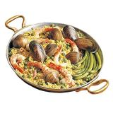 "Bon Chef 5100 12"" Aluminum Paella Pan w/ 2 qt 20 oz Capacity, Pewter"