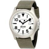 Momentum Men's 1M-SP00W6G Cordura Stainless Steel Watch with Canvas Band