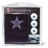 "Team Golf NFL Dallas Cowboys Gift Set Embroidered Golf Towel, 3 Golf Balls, and 14 Golf Tees 2-3/4"" Regulation, Tri-Fold Towel 16"" x 22"" & 100% Cotton"