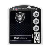 "Team Golf NFL Las Vegas Raiders Gift Set Embroidered Golf Towel, 3 Golf Balls, and 14 Golf Tees 2-3/4"" Regulation, Tri-Fold Towel 16"" x 22"" & 100% Cotton"