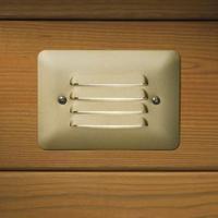 Kichler 15072BR Brass Step Lights Louvered Step Low Voltage Deck/Rail Lights