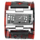 GUESS? Women's W90007L3 Tartan Overlay Strap Watch