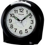 Pulsar Bedside Alarm Black Case White Dial clock #PHK004KLH