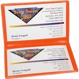 StoreSMART - Orange Folding Business Card Holders - 10 Pack - Polypropylene Plastic (RPP2915O-10)