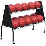 BSN Sports Ball Cart 15 Black