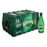 PERRIER Sparkling Mineral Water, 16.9 fl oz. Plastic Bottles (Pack of 24)
