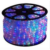 """CBconcept 120VLR10FT-RGB 10 Feet RGB (Red/Green/Blue) Color Changing 110V-120V 4-Wire 3/4"""" Flat LED Rope Light, Christmas Lighting, Indoor/Outdoor Rope Lighting"""