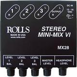 Rolls MX28 Mini-Mix VI Compact Stereo Line Mixer MX28