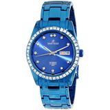 Sartego Men's SLMB35 Classic Analog Blue Face Dial Blue Swarovski Watch