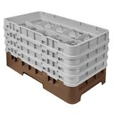 Cambro 10HS800167 Camrack Glass Rack - (4)Extenders, 10 Compartments, Brown