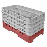Cambro 10HS800416 Camrack Glass Rack - (4)Extenders, 10 Compartments, Cranberry