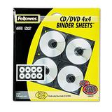 Fellowes� Two-Sided CD/DVD Refill Sheets for Three-Ring Binders, Clear, 25 pe...