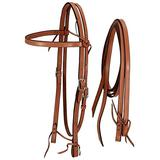 Royal King Medium Oil Frontier Browband Headstall w/Reins Horse Tack Equine