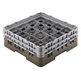Cambro 16S534167 Camrack? Glass Rack w/ (16) Compartments - (2) Gray Extenders, Brown