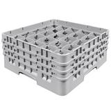 Cambro 25S638151 Camrack? Glass Rack w/ (25) Compartments - (3) Gray Extenders, Soft Gray