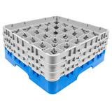 Cambro 25S638168 Camrack? Glass Rack w/ (25) Compartments - (3) Gray Extenders, Blue