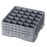 Cambro 25S738151 Camrack? Glass Rack w/ (25) Compartments - (3) Gray Extenders, Soft Gray