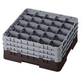 Cambro 25S738167 Camrack? Glass Rack w/ (25) Compartments - (3) Gray Extenders, Brown