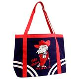 NCAA Ole Miss Rebels Canvas Tailgate Tote