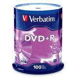 Verbatim DVD+R 4.7GB 16x AZO Recordable Media Disc - 100 Disc Spindle (FFP) - 97459, Branded, 100pk Spindle FFP