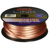 100ft 12 Gauge Speaker Wire - 1 Pair Copper Cable in Spool for Connecting Audio Stereo to Amplifier, Surround Sound System, TV Home Theater and Car Stereo - Pyle PSC12100