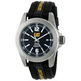 CAT WATCHES Men's YA14164131 Big Twist Stainless Steel Watch with Black Nylon Band