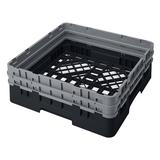 """Cambro BR578110 Camrack Base Rack - (2)Extenders, 1 Compartment, 4""""H, Black"""