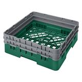 """Cambro BR578119 Camrack Base Rack - (2)Extenders, 1 Compartment, 4""""H, Sherwood Green"""