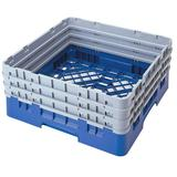 """Cambro BR712168 Camrack Base Rack - (3)Extenders, 1 Compartment, 4""""H, Blue"""