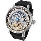 Rougois Skeleton Automatic, Dual Time Zone Watch RASBKB