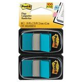 Post-it 680BB2 Standard Page Flags in Dispenser, Bright Blue, 100 Flags/Dispenser