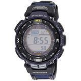 Casio Men's PRO TREK Stainless Steel Quartz Watch with Nylon Strap, Two Tone, 23 (Model: PAG-240B-2CR)