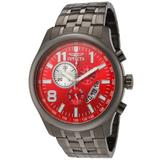 Invicta Men's 0378 II Collection Chronograph Gunmetal Ion-Plated Stainless Steel Watch