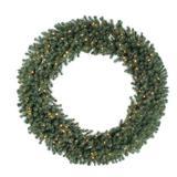 "Vickerman 04349 - 100"" Douglas Fir 400 Clear Lights Christmas Wreath (A808890)"