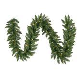 "Vickerman 10972 - 9' x 12"" Camdon Fir 50 Clear Lights Christmas Garland (A861106)"