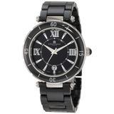 Charles-Hubert, Paris Men's 3879-B Premium Collection Black Ceramic Watch