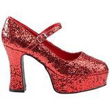 Funtasma by Pleaser Women's Maryjane-50G Pump,Red Glitter,10 M