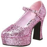 Funtasma by Pleaser Women's Maryjane-50G Pump,Baby Pink Glitter,10 M