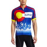 CANARI Men's Souvenir Cycling/Biking Jersey, Colorado-Cobalt, X-Large