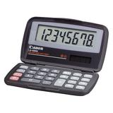 Canon Products - Canon - LS-555H Basic Calculator, Eight-Digit LCD - Sold As 1 Each - Foldable for ultracompactness. - Large 16 mm digit display size for easy readability. - Adjustable display angle for different levels of ambient light. - Solar and...