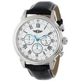 Invicta Men's I by Invicta 44mm Stainless Steel and Leather Chronograph Quartz Watch, Black (Model: IBI90242-002)