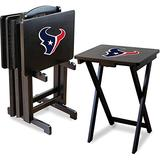Imperial Officially Licensed NFL Foldable Wood TV Tray Table Set with Stand, Houston Texans
