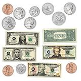Learning Resources Double-sided Magnetic Money, Classroom Whiteboard Accessories, Teacher Aids, 45 Pieces, Ages 5+