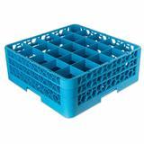 Carlisle RG25-214 OptiClean? Glass Rack w/ (25) Compartments - (2) Extenders, Blue