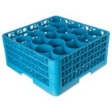 Carlisle RW20-214 OptiClean? NeWave? Glass Rack w/ (20) Compartments - (3) Extenders, Blue