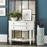 Newport Demilune Table with Shelf - Ballard Designs