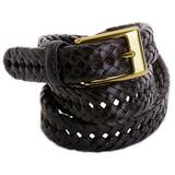 Dockers Mens Solid Braided Leather Belt
